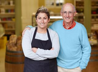 father and daughter small business owners