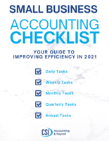 Small Business Accounting Checklist eBook 2021 Cover